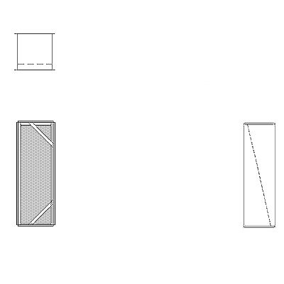 Aire-Loc Diffuser Section for Double Flat Bank Housing 3 High 1 Wide