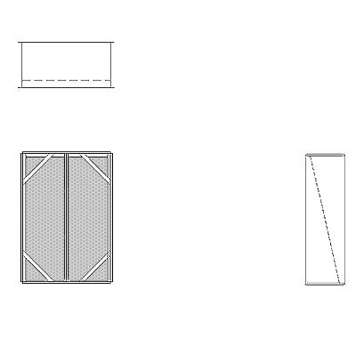 Aire-Loc Diffuser Section for V-Bank Housing 3 High 2 Wide