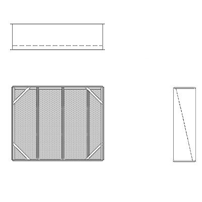 Aire-Loc Diffuser Section for Standard Housing 3 High 3-1/2 Wide