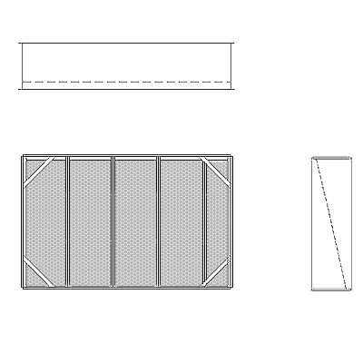 Aire-Loc Diffuser Section for Double Flat Bank Housing 3 High 4-1/2 Wide