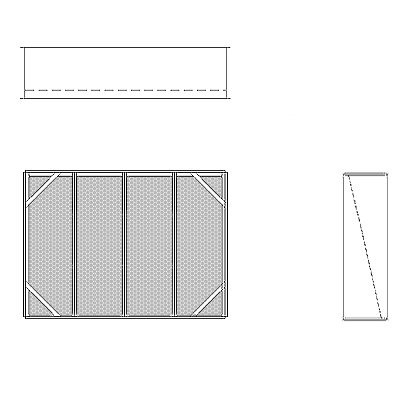 Aire-Loc Diffuser Section for V-Bank Housing 3 High 4 Wide