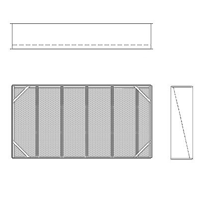 Aire-Loc Diffuser Section for Double Flat Bank Housing 3 High 5-1/2 Wide