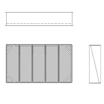 Aire-Loc Diffuser Section for Standard Housing 3 High 5 Wide