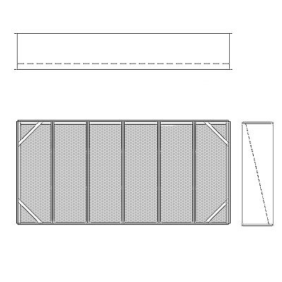 Aire-Loc Diffuser Section for Double Flat Bank Housing 3 High 6 Wide