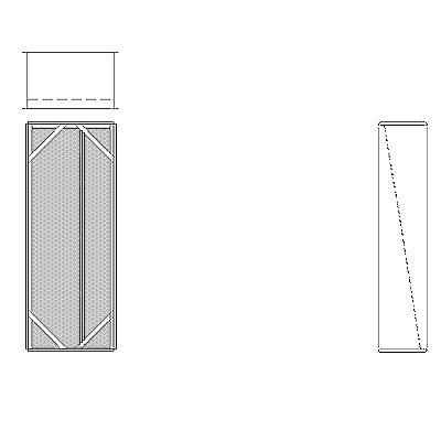 Aire-Loc Diffuser Section for Double Flat Bank Housing 4 High 1-1/2 Wide