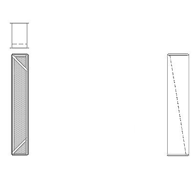 Aire-Loc Diffuser Section for Flat Bank Housing 4 High 1/2 Wide