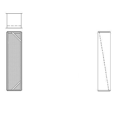 Aire-Loc Diffuser Section for Double Flat Bank Housing 4 High 1 Wide
