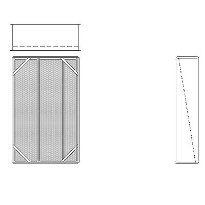 Aire-Loc Diffuser Section for Standard Housing 4 High 2-1/2 Wide