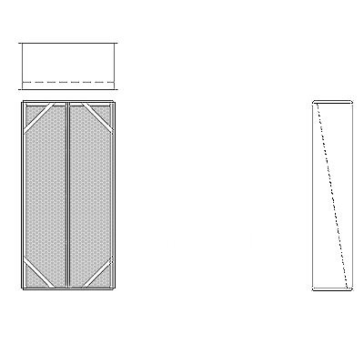 Aire-Loc Diffuser Section for Double Flat Bank Housing 4 High 2 Wide