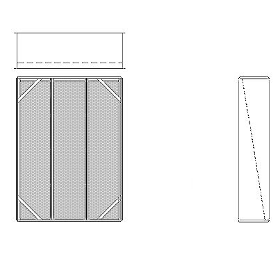 Aire-Loc Diffuser Section for Flat Bank Housing 4 High 3 Wide