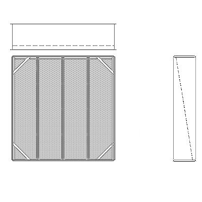 Aire-Loc Diffuser Section for Standard Housing 4 High 4 Wide