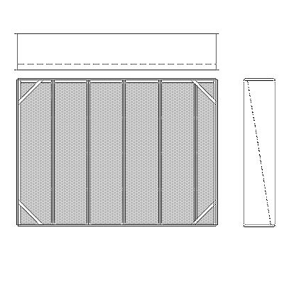 Aire-Loc Diffuser Section for V-Bank Housing 4 High 5-1/2 Wide