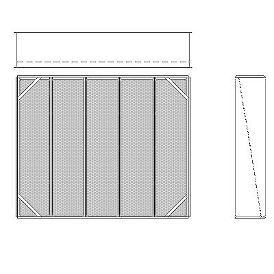 Aire-Loc Diffuser Section for Double Flat Bank Housing 4 High 5 Wide