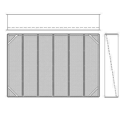 Aire-Loc Diffuser Section for V-Bank Housing 4 High 6 Wide