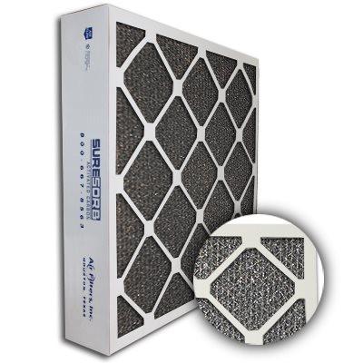 SureSorb Flocked Honeycomb Die-Cut Carbon Filter 12x24x4