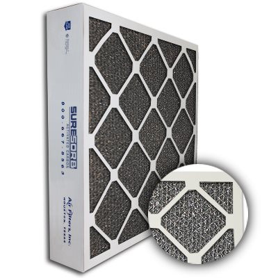 SureSorb Flocked Honeycomb Die-Cut Carbon Filter 24x24x4