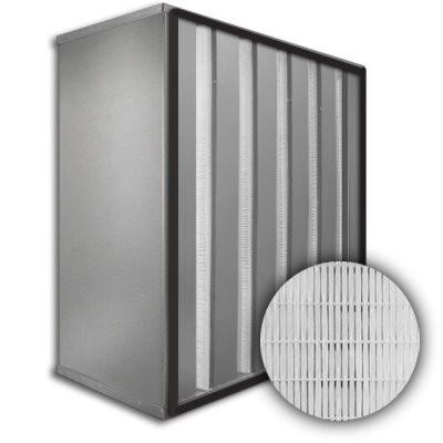 Sure-Cell Aluminum Frame 5 V-Cell Gasket Up Stream HEPA 99.999% Single Header 12x25x12