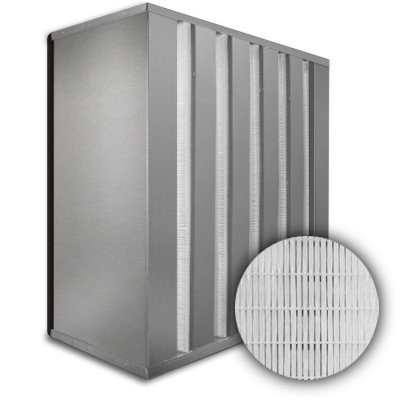 Sure-Cell Aluminum Frame 5 V-Cell Gasket Down Stream HEPA 99.99% Single Header 20x24x12