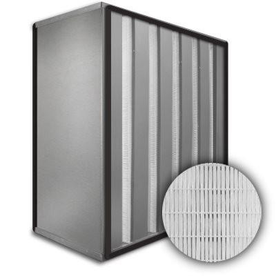Sure-Cell Aluminum Frame 5 V-Cell Gasket Both Sides HEPA 99.97% Single Header 20x24x12