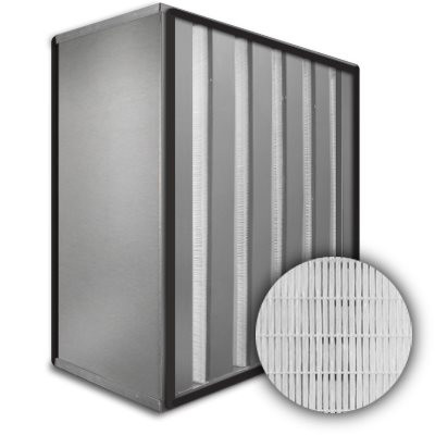 Sure-Cell Aluminum Frame 5 V-Cell Gasket Both Sides HEPA 99.99% Single Header 12x25x12