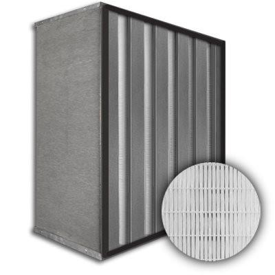 Sure-Cell Galvanized Frame 5 V-Cell Gasket Up Stream HEPA 99.99% Single Header 12x24x12
