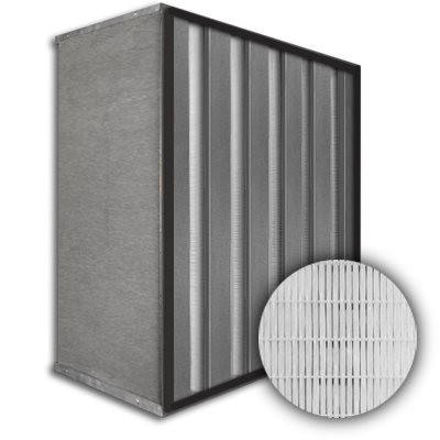 Sure-Cell Galvanized Frame 5 V-Cell Gasket Up Stream HEPA 99.99% Single Header 20x24x12