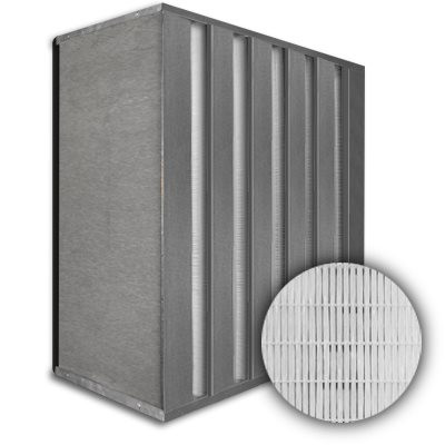 Sure-Cell Galvanized Frame 5 V-Cell Gasket Down Stream HEPA 99.99% Single Header 12x24x12