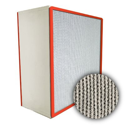 Puracel HEPA Hi-Temp Stainless Steel Frame Box Filter with Gasket Both Sides 99.99% 20x24x12