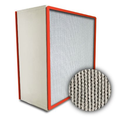 Puracel HEPA Hi-Temp Stainless Steel Frame Box Filter with Gasket Down Stream 99.999% 18x24x12