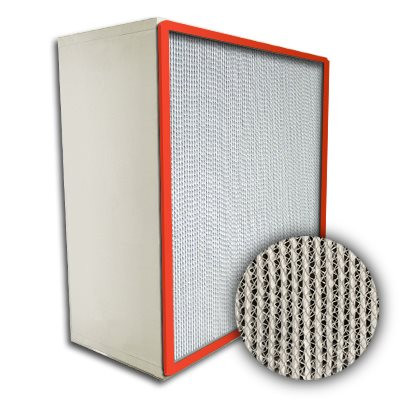 Puracel HEPA Hi-Temp Stainless Steel Frame Box Filter with Gasket Up Stream 99.999% 24x24x12