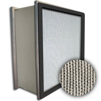 Puracel HEPA 99.999% Standard Capacity Box Filter Double Header Gasket Up Stream Under Cut 23-3/8x23-3/8x11-1/2