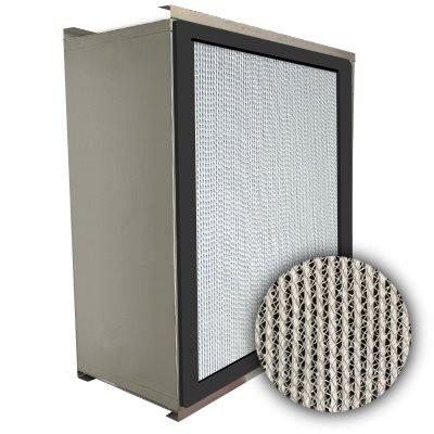 Puracel HEPA 99.99% High Capacity Box Filter Double Turn Flange Gasket Up Stream Under Cut 23-3/8x11-3/8x11-1/2