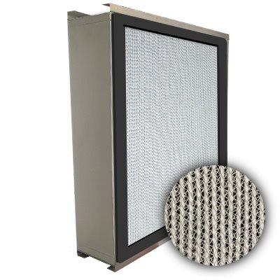 Puracel HEPA 99.999% Standard Capacity Box Filter Double Turn Flange Gasket Up Stream Under Cut 23-3/8x23-3/8x5-7/8
