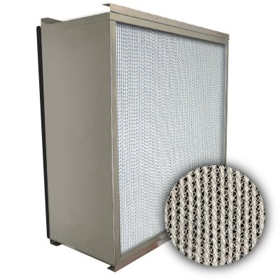 Puracel HEPA 99.999% Standard Capacity Box Filter Double Turn Flange Gasket Down Stream Under Cut 23-3/8x11-3/8x11-1/2