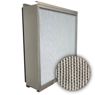 Puracel HEPA 99.99% High Capacity Box Filter Double Turn Flange Gasket Down Stream Under Cut 23-3/8x23-3/8x5-7/8