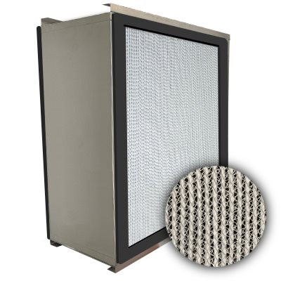 Puracel HEPA 99.97% High Capacity Box Filter Double Turn Flange Gasket Both Sides Under Cut 23-3/8x11-3/8x11-1/2