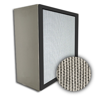 Puracel HEPA 99.999% Standard Capacity Box Filter No Header Gasket Up Stream Under Cut 23-3/8x23-3/8x11-1/2
