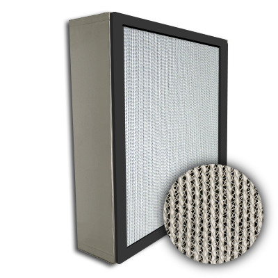 Puracel HEPA 99.99% High Capacity Box Filter No Header Gasket Up Stream Under Cut 23-3/8x23-3/8x5-7/8