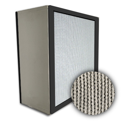 Puracel HEPA 99.99% Standard Capacity Box Filter No Header Gasket Both Sides Under Cut 23-3/8x23-3/8x11-1/2