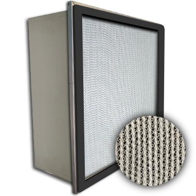 Puracel HEPA 99.99% High Capacity Box Filter Single Header Gasket Up Stream Under Cut 23-3/8x11-3/8x11-1/2