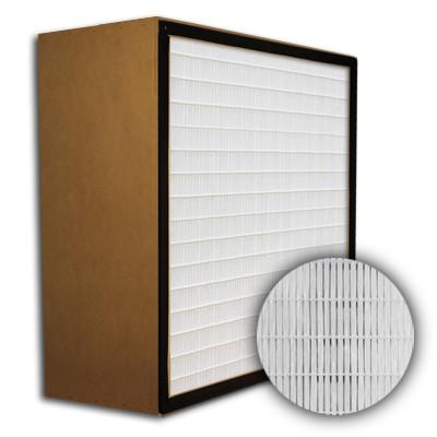 SuperFlo Max ASHRAE 95% (MERV 14/15) Particle Board Frame Mini Pleat Filter 24x24x12