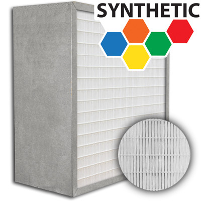 SuperFlo Max Synthetic ASHRAE 95% (MERV 14/15) Metal Cell Frame Mini Pleat Filter 16x25x12