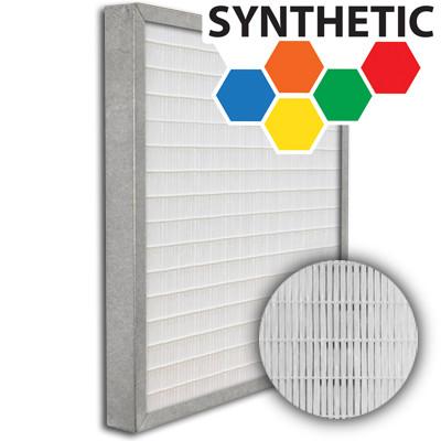 SuperFlo Max Synthetic ASHRAE 95% (MERV 14/15) Metal Cell Frame Mini Pleat Filter 16x25x2