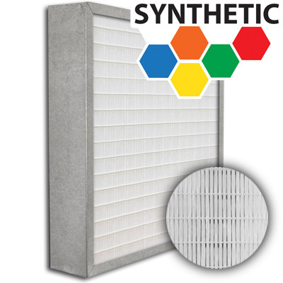 SuperFlo Max Synthetic ASHRAE 95% (MERV 14/15) Metal Cell Frame Mini Pleat Filter 24x24x4