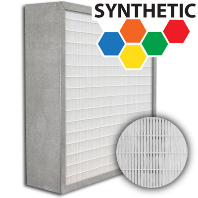 SuperFlo Max Synthetic ASHRAE 95% (MERV 14/15) Metal Cell Frame Mini Pleat Filter 24x24x6