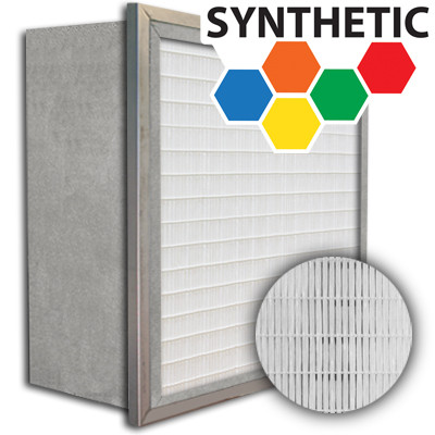 SuperFlo Max Synthetic ASHRAE 65% (MERV 11/12) Metal Cell Single Header Mini Pleat Filter 24x24x12