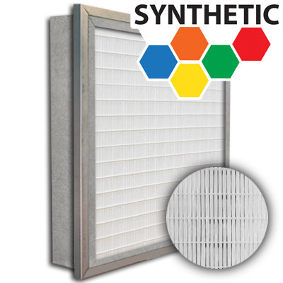 SuperFlo Max Synthetic ASHRAE 65% (MERV 11/12) Metal Cell Single Header Mini Pleat Filter 20x20x4