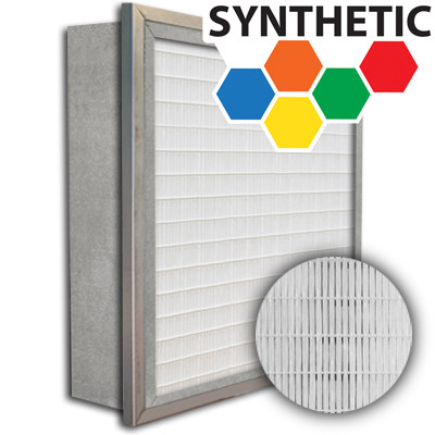 SuperFlo Max Synthetic ASHRAE 95% (MERV 14/15) Metal Cell Frame Mini Pleat Single Header Filter 20x25x6