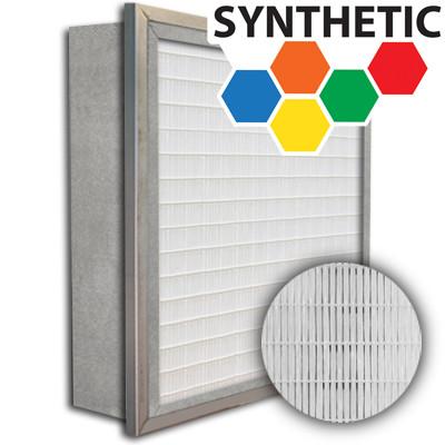 SuperFlo Max Synthetic ASHRAE 65% (MERV 11/12) Metal Cell Single Header Mini Pleat Filter 16x25x6