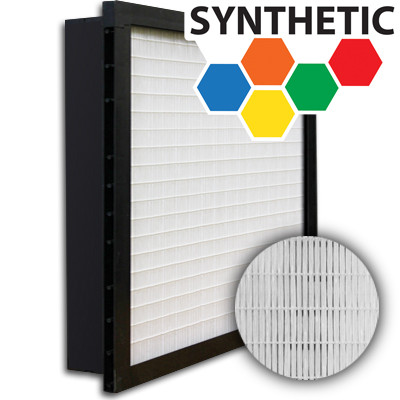 SuperFlo Max Synthetic ASHRAE 65% (MERV 11/12) Plastic Frame Single Header Mini Pleat Filter 24x24x4